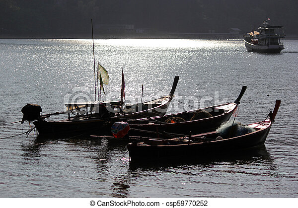 fishing boats in the sea - csp59770252
