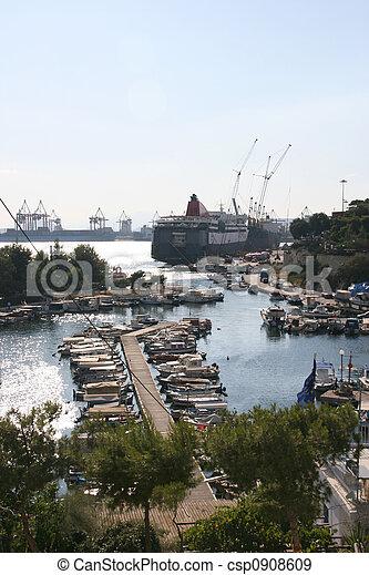 fishing boats marina - csp0908609