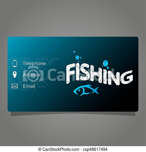 Fishing Business Card Business Card Store For Fishing Concept