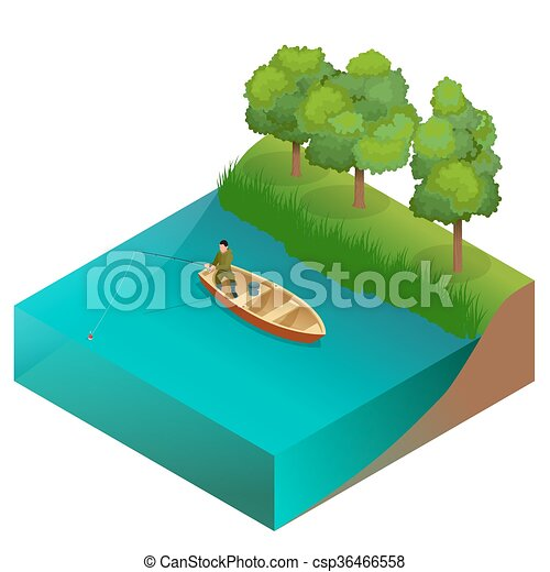 fishing concept man fishing on a lake from the boat clipart rh canstockphoto com lake clipart free lake clipart free