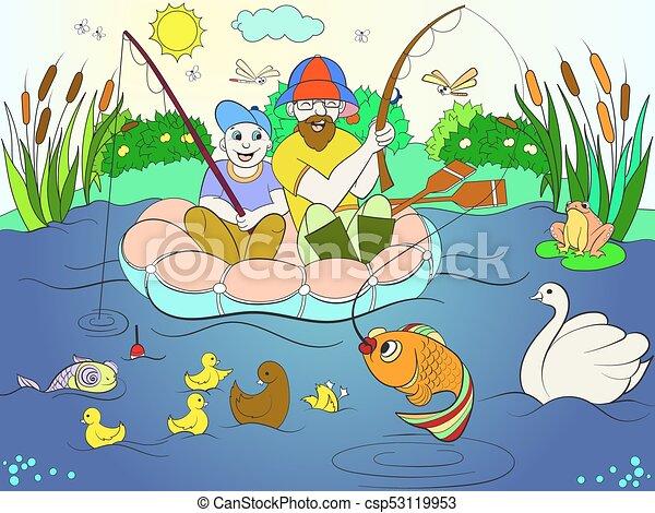 Fishing Kid Stock Illustrations – 2,193 Fishing Kid Stock Illustrations,  Vectors & Clipart - Dreamstime