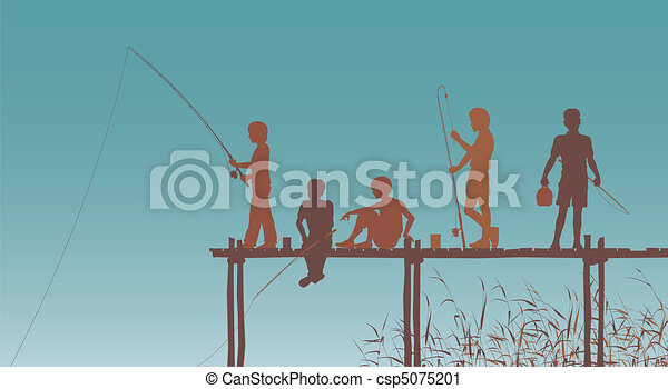 Fishing friends - csp5075201