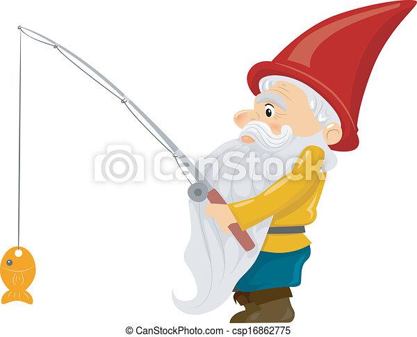 Fishing Gnome - csp16862775