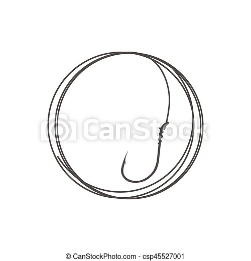 Fishing hook on the white - csp45527001