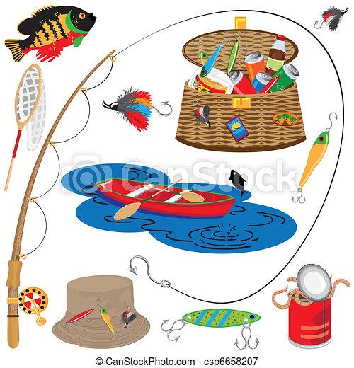 Fishing Icons  - csp6658207