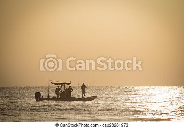 Fishing in Early Morning - csp28281973