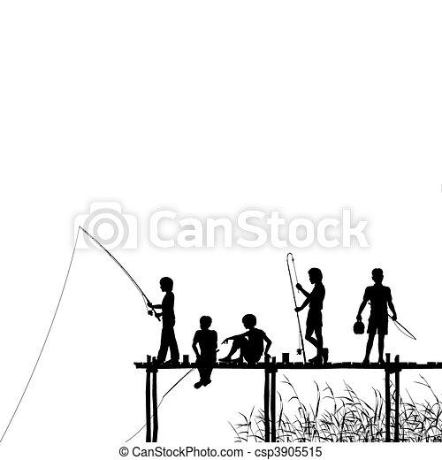 Fishing jetty - csp3905515