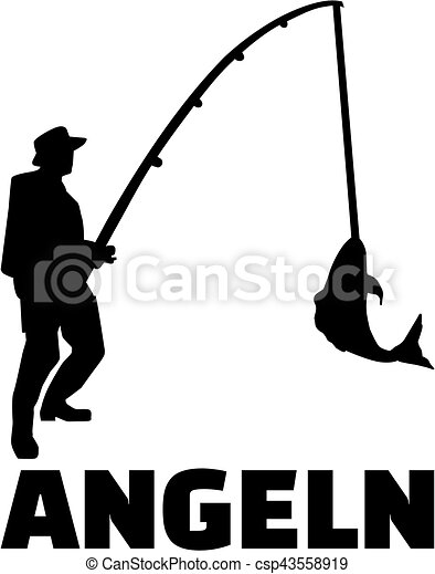 fishing man with german title vector clip art search illustration rh canstockphoto com free man fishing clipart free man fishing clipart