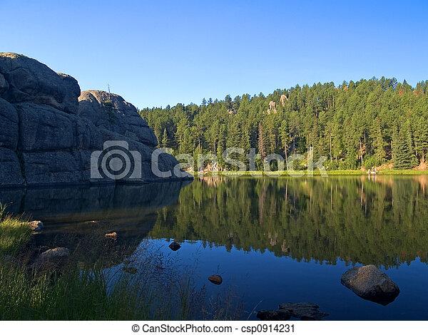 Fishing on a Vibrant Lake - csp0914231