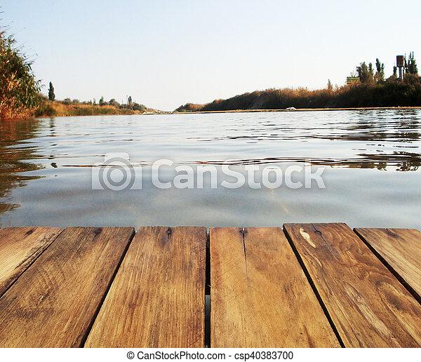 Fishing on the lake. - csp40383700