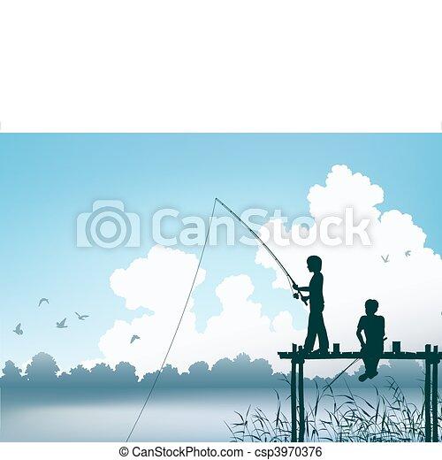 Fishing scene - csp3970376