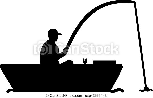 fishing silhouette man in boat eps vector search clip art rh canstockphoto com man fishing clip art free man fishing clip art images