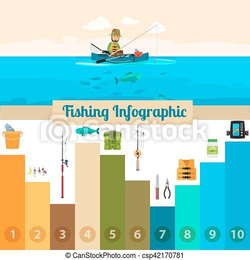 Fishing sport infographic - csp42170781