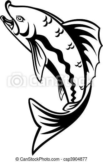 Fishing symbol - csp3904877