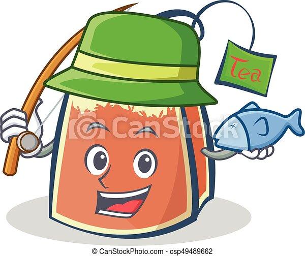 fishing tea bag character cartoon vector art collection clip art rh canstockphoto com character clipart black and white character clip art free