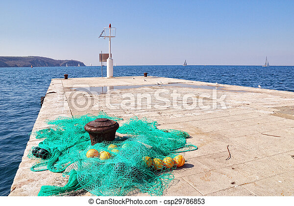 Fishingnets on the pier fishing nets on the small pier for Pier fishing net