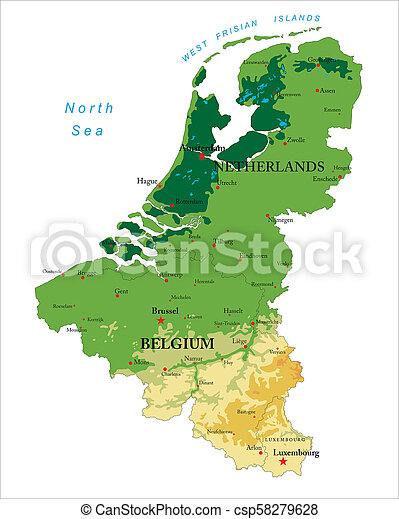 Cartina Fisica Belgio.Fisico Mappa Benelux Fisico Mappa Tutto Sollievo Stati Citta Altamente Profili Di Fodera Dettagliato Forme Canstock