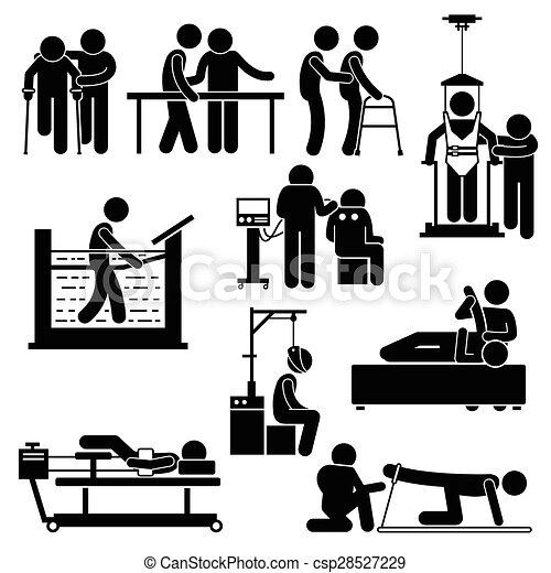 Rehabilitación de fisioterapia - csp28527229
