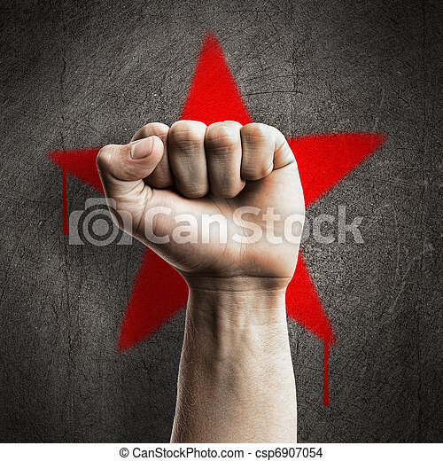 Fist against wall - csp6907054