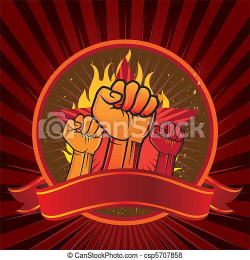 fist emblem - csp5707858