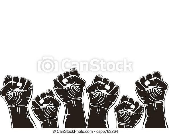 fist for revolution  - csp5763264