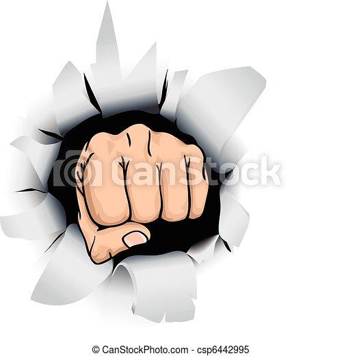 fist illustration - csp6442995