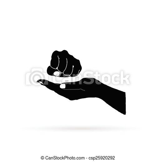 fist in hand vector - csp25920292