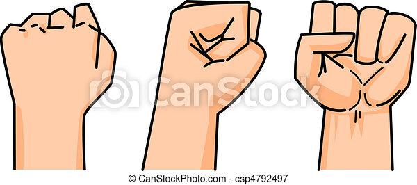 fist of human vector - csp4792497