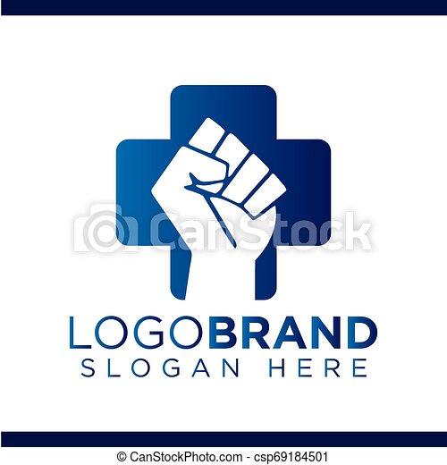 Fist of struggle Medical Vector Logo - csp69184501