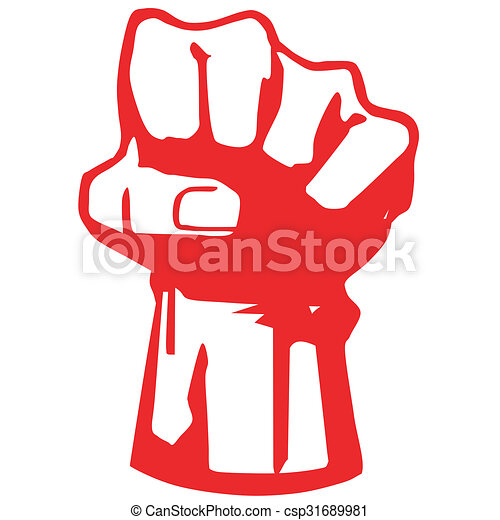 Fist Symbol Of The Struggle For Independence Vector