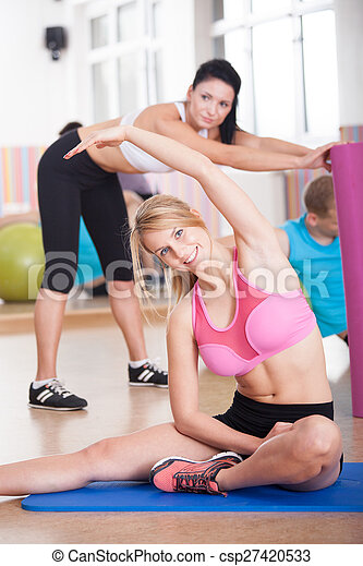 Fit people stretching - csp27420533