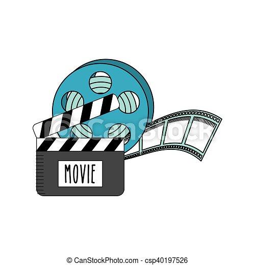 Fita Cinema Bobina Icone Cinema Ilustracao Vetorial Fita
