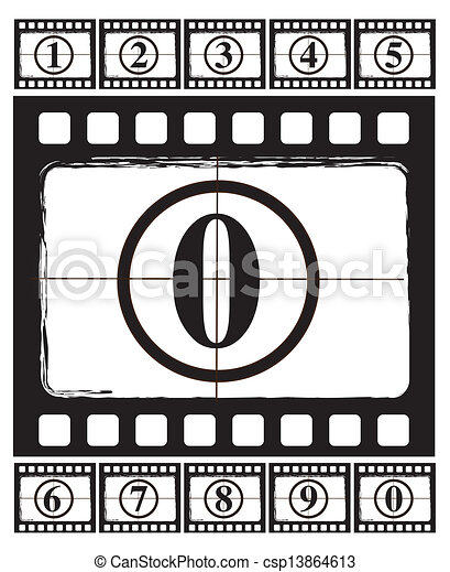 Fita Cinema Antigas Cinema Sobre Ilustracao Vetorial Fundo