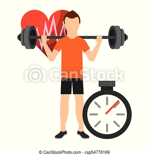 Fitness Aerobic Strength And Body Shaping Exercises Man Strength And Resistance Training Vector Illustration Vector