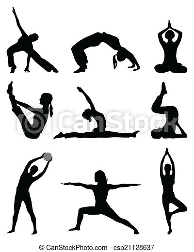 fitness and yoga - csp21128637