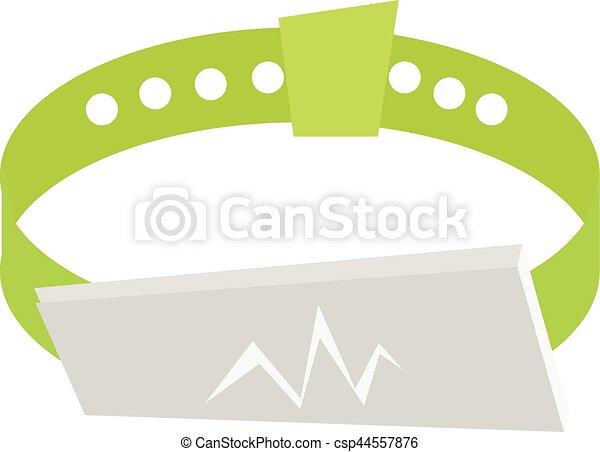 Armband clipart  Vektoren Illustration von fitness, armband, band, hand - Fitness ...