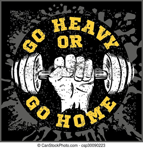 Fitness Bodybuilding Vintage Label For Flayer Poster Logo T Shirt Print With Lettering Vector