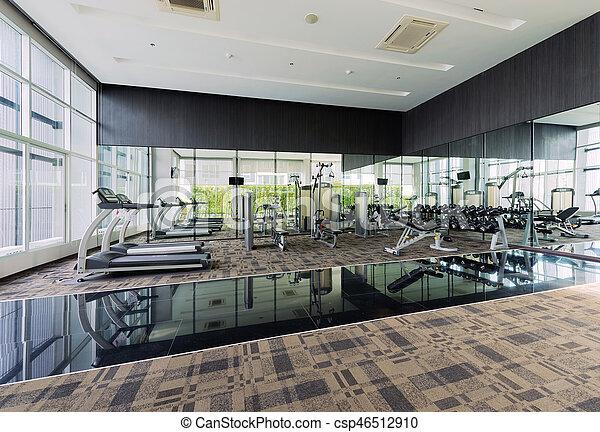 Fitness Center interior design, Gym - csp46512910