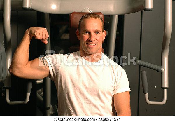 fitness center man - csp0271574