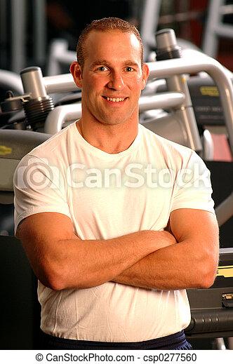 fitness center man - csp0277560