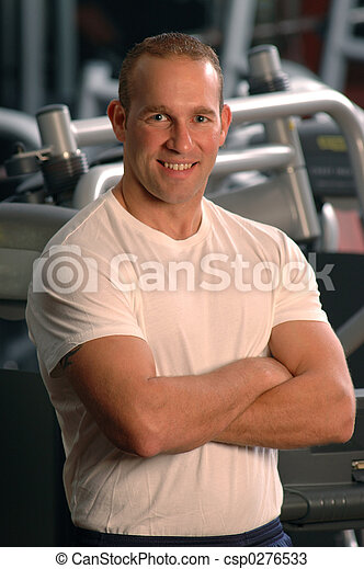 fitness center man - csp0276533