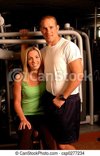 fitness couple - csp0277234