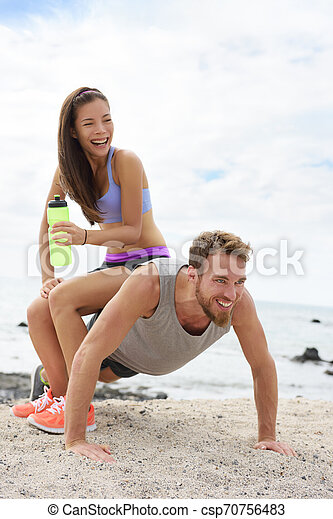 Hot couples explosive workout