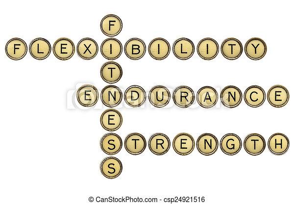 fitness crossword - csp24921516