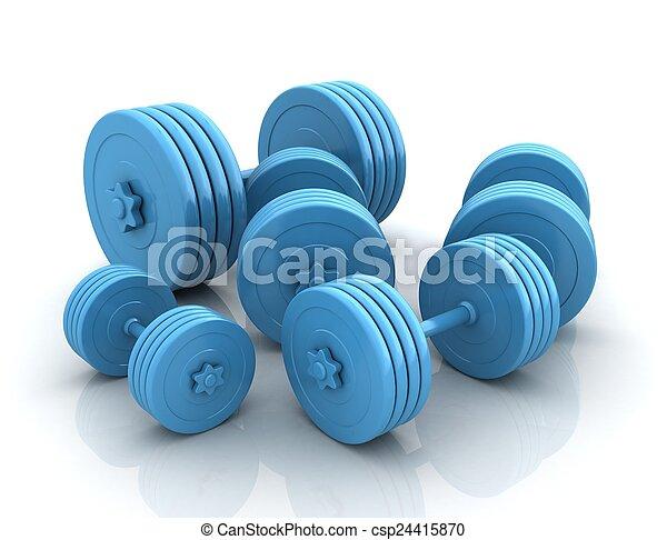 Fitness dumbbells - csp24415870