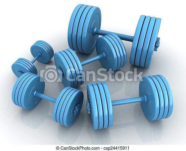 Fitness dumbbells - csp24415911