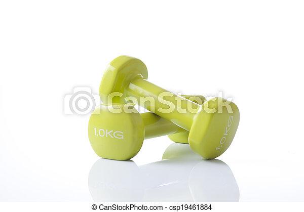 fitness dumbbells - csp19461884