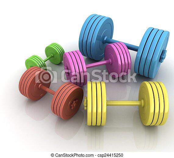 Fitness dumbbells - csp24415250