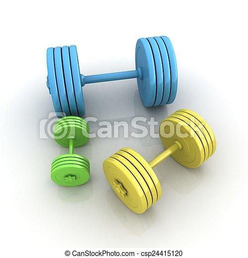 Fitness dumbbells - csp24415120