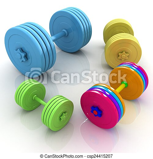 Fitness dumbbells - csp24415207